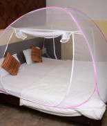 Classic Mosquito Net Double Bed (pink)