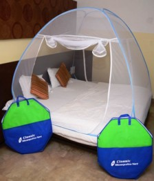 Classic Mosquito Net Double Bed (Blue)