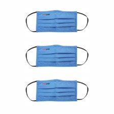 Healthgenie FM 201 Washable & Reusable Double Layered, Triple Pleated Cloth Face Mask – Large, Assorted Color (Pack of 3)
