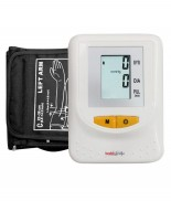 Healthgenie Digital Upper Arm Blood Pressure Monitor (BP Monitor) BPM01 Fully Automatic   Batteries Included   With Adaptor   2 Year Warranty