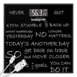 Healthgenie Digital Weighing Scale – Never Quit (Black)