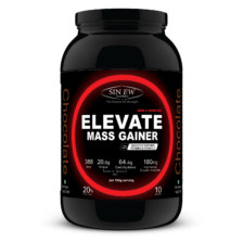Sinew Nutrition Elevate Mass Gainer, Complex Carb & Proteins in 3:1 ratio with DigiEnzymes, 1kg / 2.2lb – Chocolate Flavor