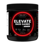 Sinew Nutrition Elevate Mass Gainer, Complex Carb & Proteins in 3:1 ratio with DigiEnzymes, 300gm / 0.66lb – Chocolate Flavor