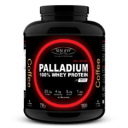 Sinew Nutrition Palladium 100% Whey Protein Concentrate Powder 3 Kg / 6.6 Lbs (100 Servings) Coffee Flavour