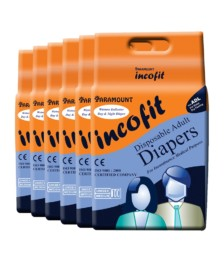 Incofit Premium Adult Diapers-Medium, Pack of 60