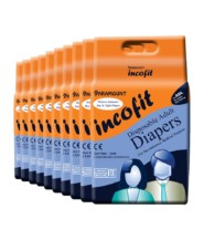 Incofit Premium Adult Diaper Medium Pack of 100