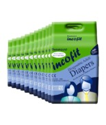 Incofit Premium Adult Diapers-Large, Pack of 120