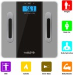 Healthgenie Body fat analyser hd 311 Scale – glass grey