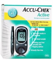 Accu-Chek Active Kit with 100 Strips Glucometer