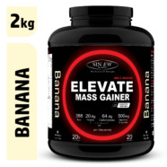 Sinew Nutrition Elevate Mass Gainer, Complex Carb & Proteins in 3:1 ratio with DigiEnzymes, 2kg / 4.4lb – Banana Flavour