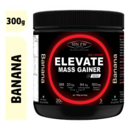 Sinew Nutrition Elevate Mass Gainer, Complex Carb & Proteins in 3:1 ratio with DigiEnzymes, 300gm / 0.66lb – Banana Flavour