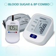 Omron HEM-7120-IN Blood Pressure Monitor and Blood Sugar Combo