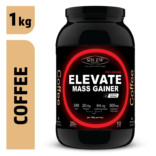Sinew Nutrition Elevate Mass Gainer, Complex Carb & Proteins in 3:1 ratio with DigiEnzymes, 1kg / 2.2lb – Coffee Flavour