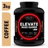 Sinew Nutrition Elevate Mass Gainer, Complex Carb & Proteins in 3:1 ratio with DigiEnzymes, 3kg / 6.6lb – Coffee Flavour