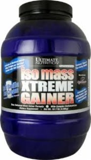 Ultimate Nutrition Iso Mass Xtreme Gainer-Strawberry-10 lb