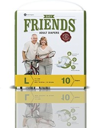 Friends Adult Diaper (Easy) – Large (Pack of 12)