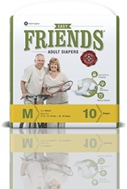 Friends Adult Diaper-Easy-Medium-Pack of 10