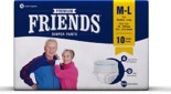 Friends Adult Pullups – Medium to Large (Pack of 3)(30 Count)