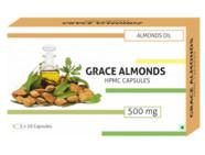 Grace Almonds Almond Oil 500Mg (Hpmc/Veg) Capsules