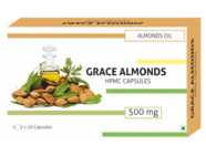 Grace Almonds Almond Oil 500Mg (Hpmc/Veg) Capsules