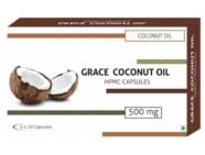 Grace Coconut Oil 500mg Veg Capsules