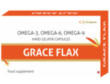 Grace Flax Flaxseed Oil Veg 500Mg Capsules