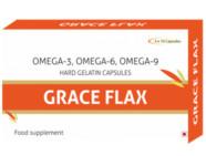 Grace Flax Flaxseed Oil Veg 500Mg Capsules