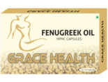 Grace Health Fenugreek Oil 500Mg Veg Capsules