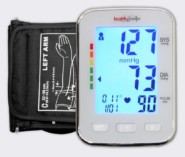 Healthgenie Digital Upper Arm Blood Pressure Monitor (BP Monitor) BPM04KBL Fully Automatic | Irregular Heartbeat Detector | Batteries Included | With Adaptor | 2 Year Warranty