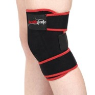 Healthgenie Adjustable Knee Support, Free Size Fits Most (Black) | Elastic and Durable Neoprene | Reduces Risk of Injury & Joint Pain