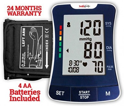 Healthgenie BP Monitor digital Upper arm BPM 03 Automatic with irregular heart beat indicator - 24 MONTHS WARRANTY
