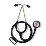 Healthgenie Cardiology Aluminium Dual Light Weight Stethoscope HG-401B (Black)