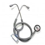Healthgenie Cardiology Aluminium Dual Light Weight Stethoscope HG-401G (Grey)