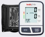 Healthgenie Digital Upper Arm Talking Blood Pressure Monitor (BP Monitor) BPM02T Fully Automatic | Irregular Heartbeat Detector | Batteries Included | With Adaptor | 2 Year Warranty