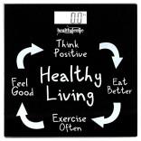 Healthgenie Digital Weighing Scale – Healthy Living (Black)