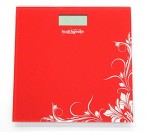 Healthgenie Digital Weighing Scale (Red)
