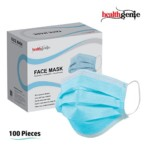 Healthgenie Disposable Elastic 3-Ply Face Mask – 100 Pieces (Blue)