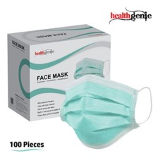 Healthgenie Disposable Elastic 3-Ply Face Mask – 100 Pieces (Green)