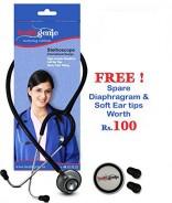 Healthgenie Doctors Dual Al Stethoscope DELUXE HG-203B (Black)