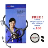 Healthgenie Doctors Dual Stainless Steel stethoscope HG-301G (Grey)