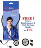 Healthgenie Dual Aluminum Non Chill Stethoscope HG-201G (Grey)