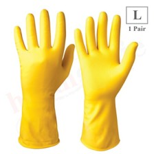 Healthgenie Flocklined Household Multi-Purpose Glove, Large (1 Pair