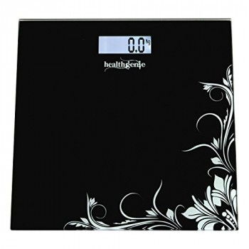 Healthgenie HD221 Digital Weighing Scale (Black)