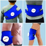 Healthgenie Hot and cold -4 Way uses with Belt Knee, Calf & Thigh Support (Free Size, Blue)