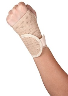 Healthgenie Wrist Brace with Thumb Support One Size Fits Most (1 Pc – Beige), Elastic & Breathable Fabric – Adjustable Compression Wrist Support for Wrist Pain & Sports Injuries