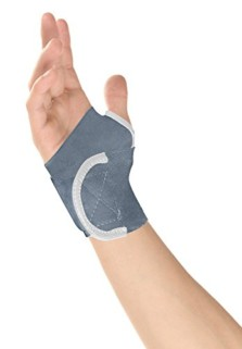 Healthgenie Wrist Brace With Thumb Elastic (grey)