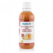 HealthVit Apple Cider Vinegar – 250 ml (Ginger, Garlic, Lemon and Honey)