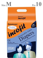 Incofit Premium Adult Diapers-Medium, Pack of 10