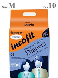 Incofit Premium Adult Diapers-Medium, Pack of 10