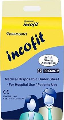 Incofit UNDER SHEET, Pack of 10, 60-90cm (23.6″-35.4″)